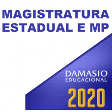 MAGISTRATURA E MP ESTADUAIS (DAMÁSIO 2020)